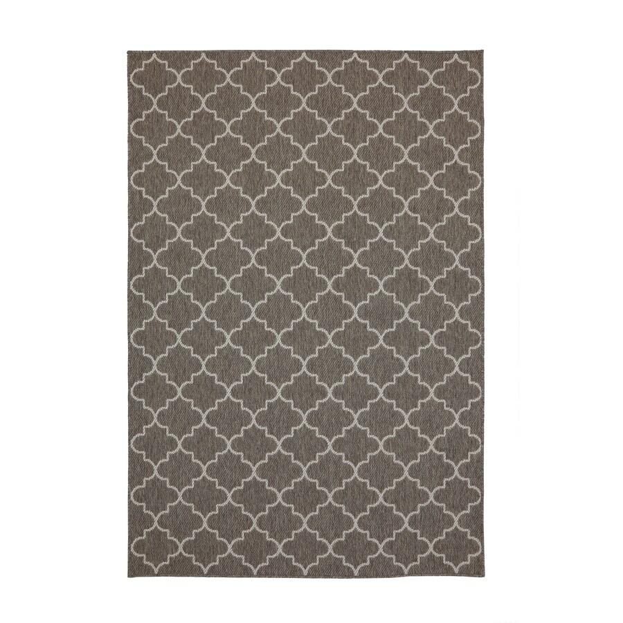 Mohawk Home Indoor or Outdoor Sisal Gray Rectangular Indoor/Outdoor Woven Area Rug (Common: 5 x 7; Actual: 5.25-ft W x 7.5-ft L x 0.5-ft Dia)