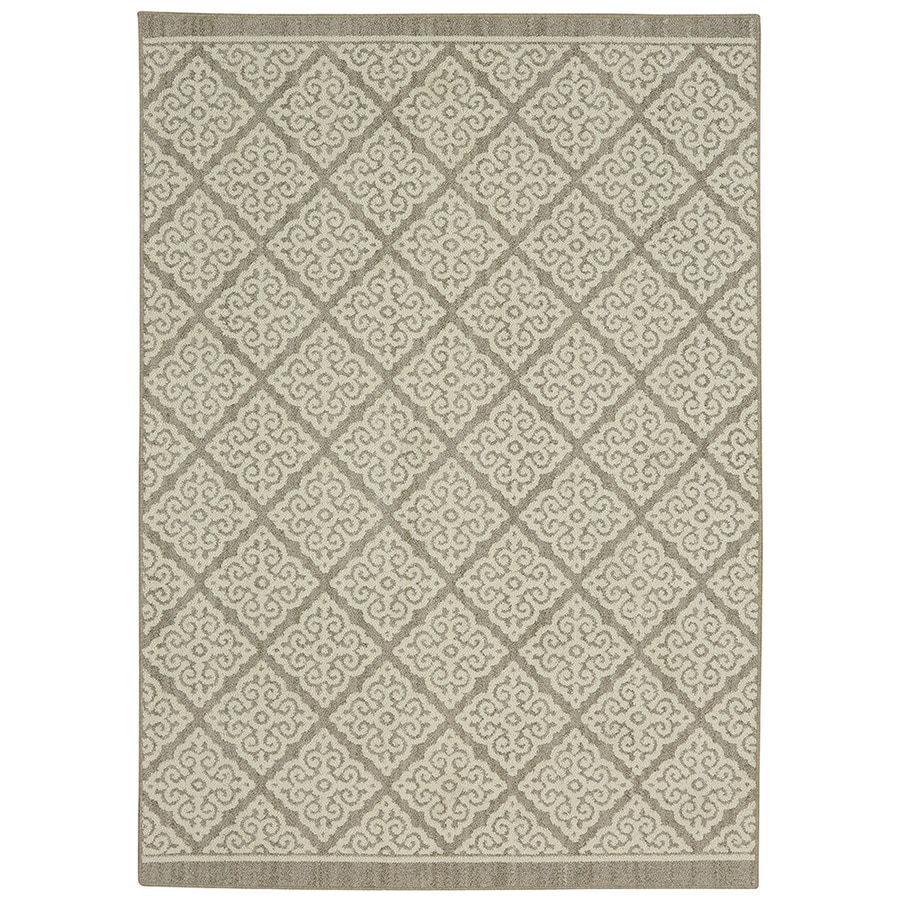 Mohawk Home Colorpoint Grey Rectangular Indoor Machine-Made Inspirational Area Rug (Common: 7 x 10; Actual: 7.5-ft W x 10-ft L x 0.5-ft dia)