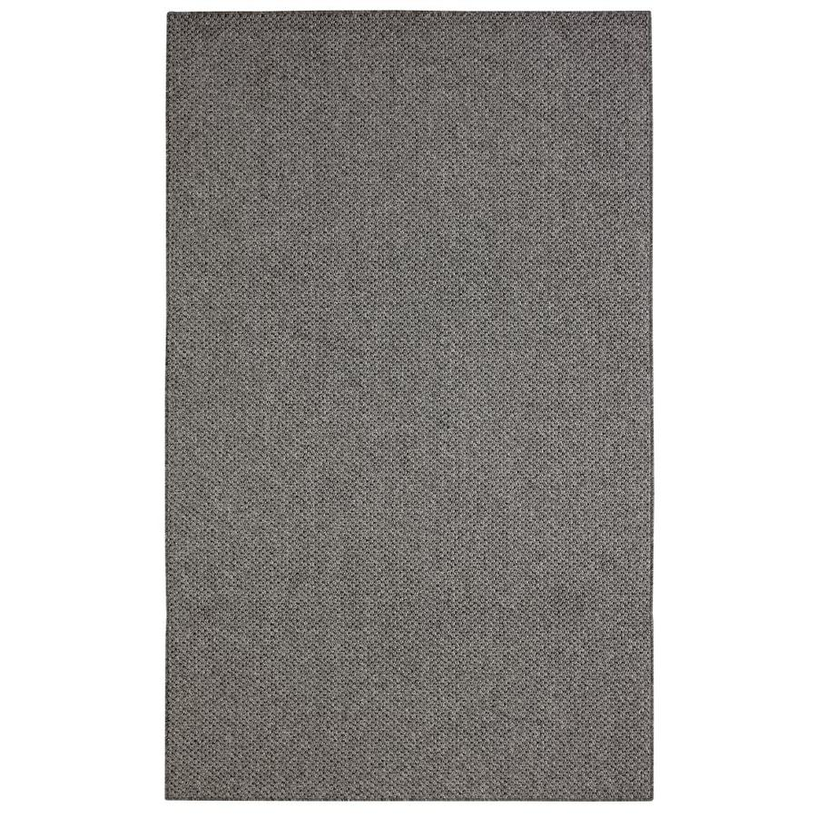 Mohawk Home Colorstone Grey And Black Rectangular Indoor Machine-Made Inspirational Area Rug (Common: 5 x 7; Actual: 5-ft W x 7-ft L x 0.5-ft dia)