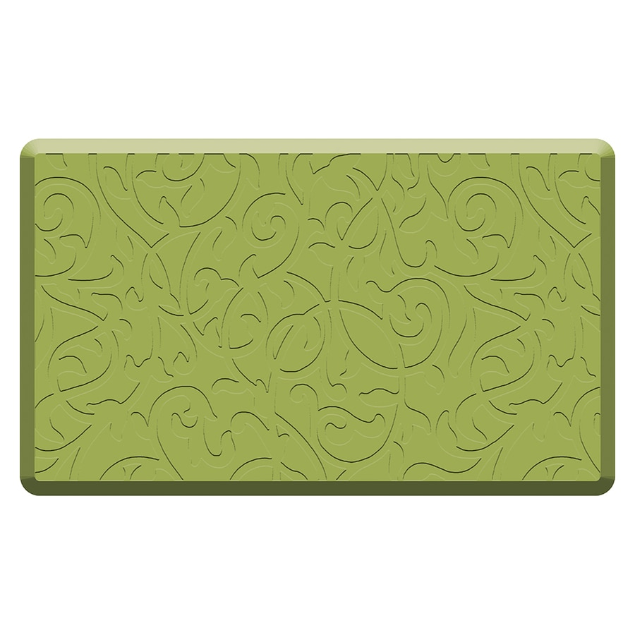 Mohawk Home Green Anti-Fatigue Mat (Common: 1-1/2-ft x 2-1/2-ft; Actual: 2.5-in x 1.5-in)