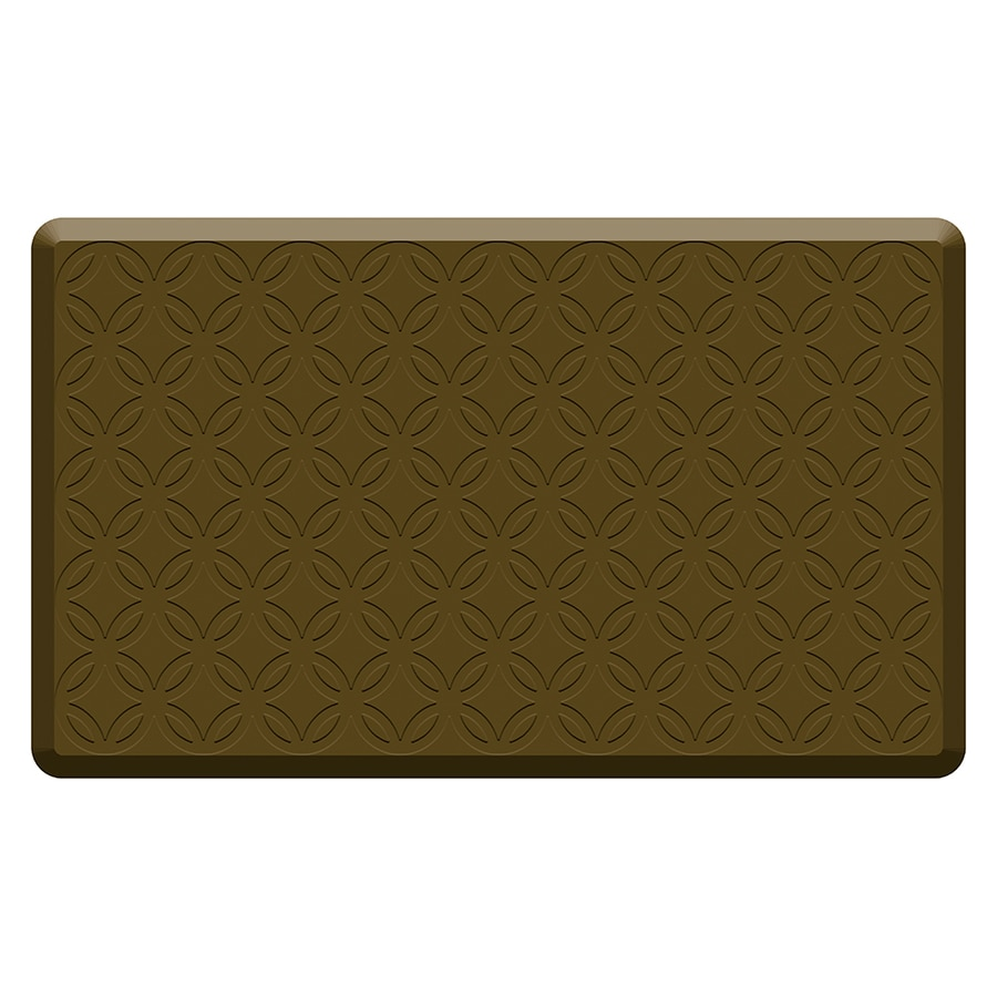 Mohawk Home Brown Anti-Fatigue Mat (Common: 1-1/2-ft x 2-1/2-ft; Actual: 2.5-in x 1.5-in)