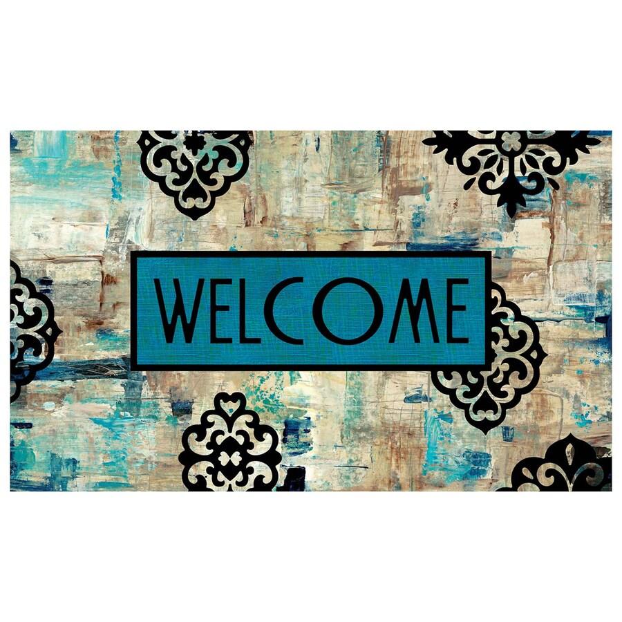 Mohawk Home Blue Rectangular Door Mat (Common: 1-1/2-ft x 2-1/2-ft; Actual: 18-in x 30-in)