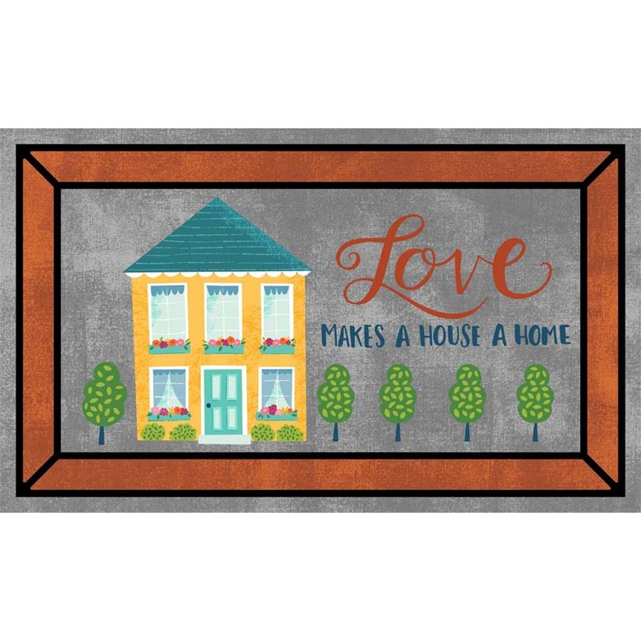 Mohawk Home Gray Rectangular Door Mat (Common: 1-1/2-ft x 2-1/2-ft; Actual: 18-in x 30-in)