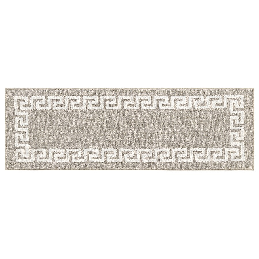 Mohawk Home Hera Grey Rectangular Indoor Tufted Throw Rug (Common: 2 x 5; Actual: 1.6667-ft W x 5-ft L)
