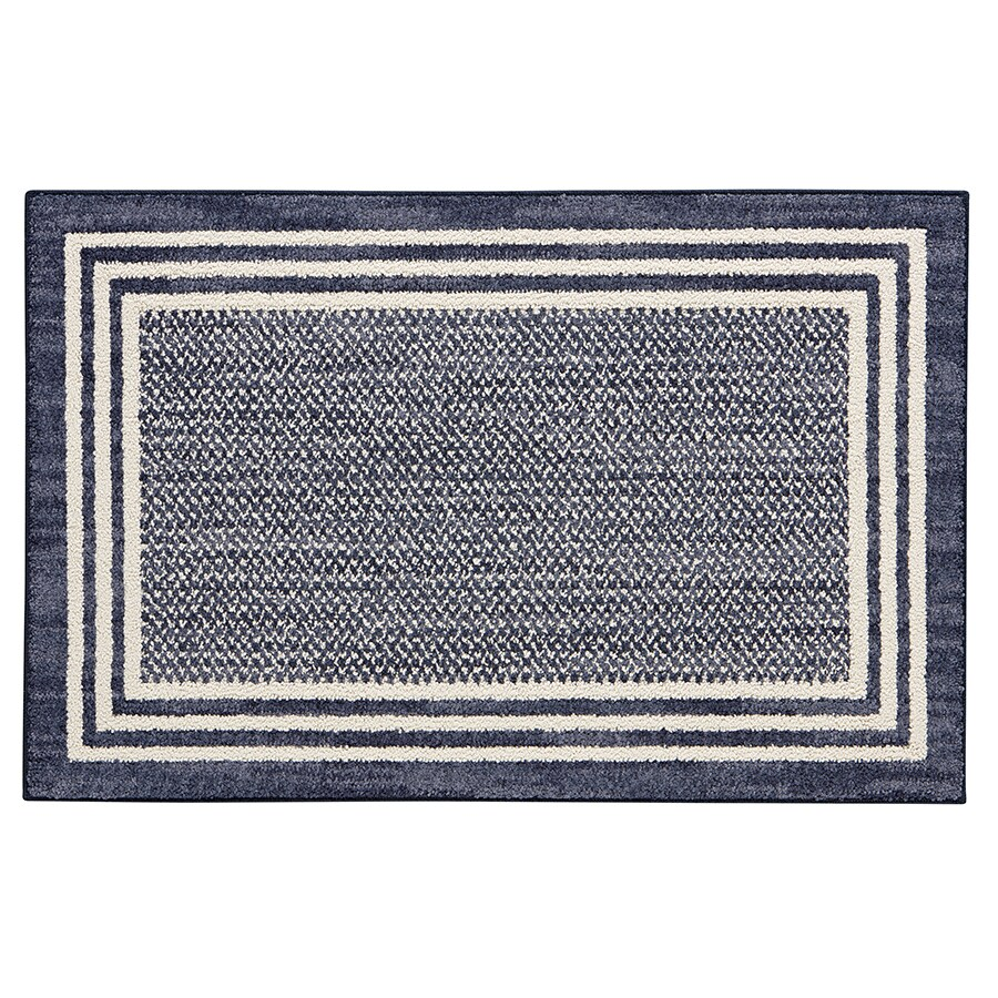 Mohawk Home Rampart Indigo Rectangular Indoor Tufted Throw Rug (Common: 2 x 4; Actual: 2.25-ft W x 3.75-ft L)