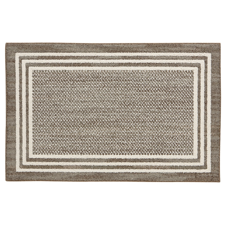 Mohawk Home Rampart Khaki Rectangular Indoor Machine-Made Inspirational Throw Rug (Common: 2.3 x 3.9; Actual: 2.25-ft W x 3.75-ft L)