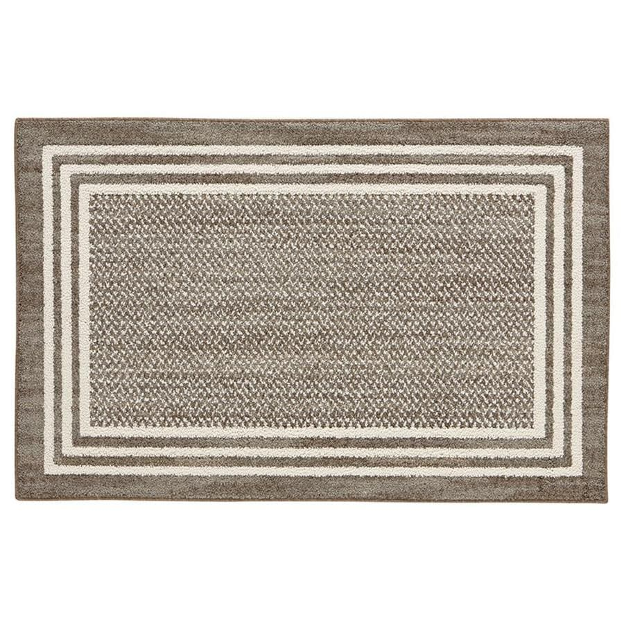 Mohawk Home RAMPART Garnet Rectangular Indoor Machine-Made Nature Throw Rug (Common: 2 x 4; Actual: 2.25-ft W x 3.75-ft L x 0.1-ft dia)