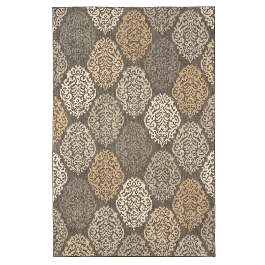 Karastan Serenade Willow Gray Rectangular Indoor Machine-Made Nature Area Rug (Common: 5 x 8; Actual: 5.25-ft W x 7.833-ft L)