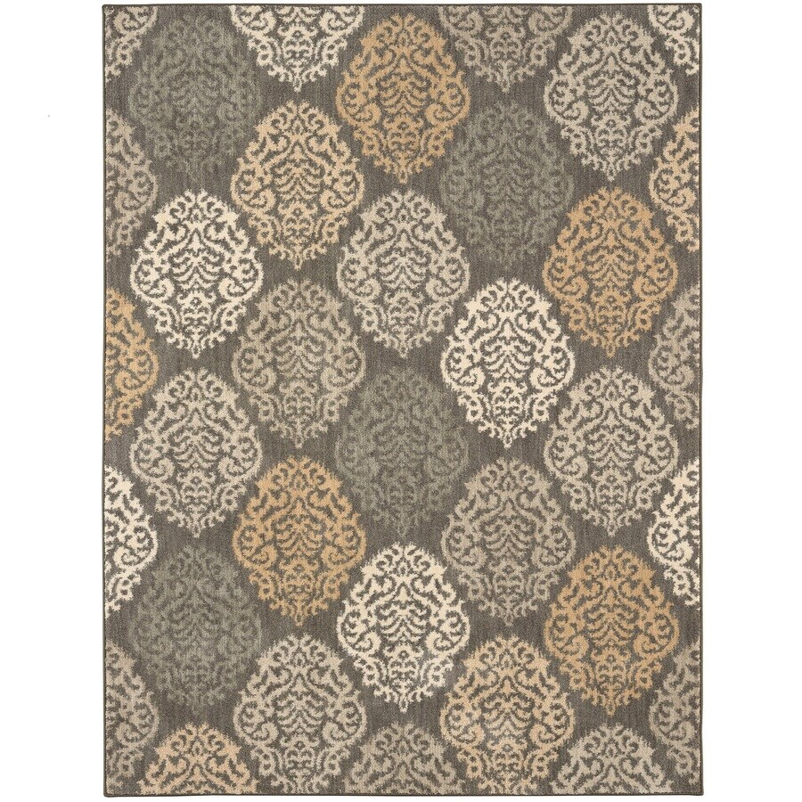 Karastan Serenade Willow Gray Rectangular Indoor Machine-Made Nature Area Rug (Common: 9 x 13; Actual: 9.5-ft W x 12.916-ft L)