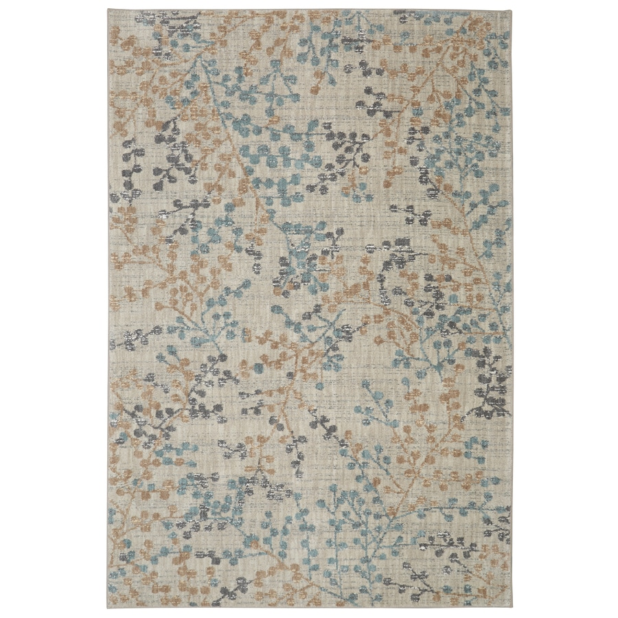 Karastan Serenade Cream Rectangular Indoor Machine-Made Oriental Area Rug (Common: 8 x 11; Actual: 8-ft W x 11-ft L)