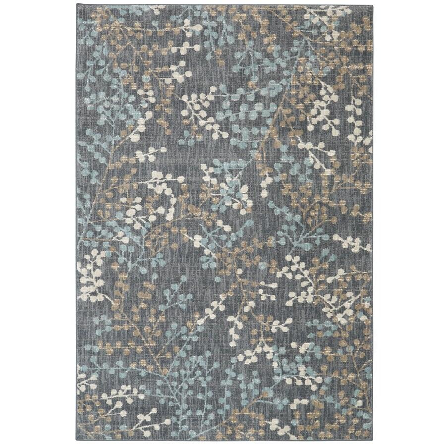 Karastan Serenade Castor Gray Rectangular Indoor Machine-Made Nature Area Rug (Common: 8 x 11; Actual: 8-ft W x 11-ft L)