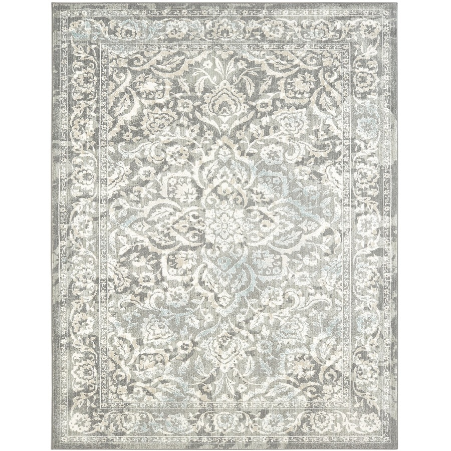 Karastan serenade ventura gray indoor nature area rug common 9 x 13 actual