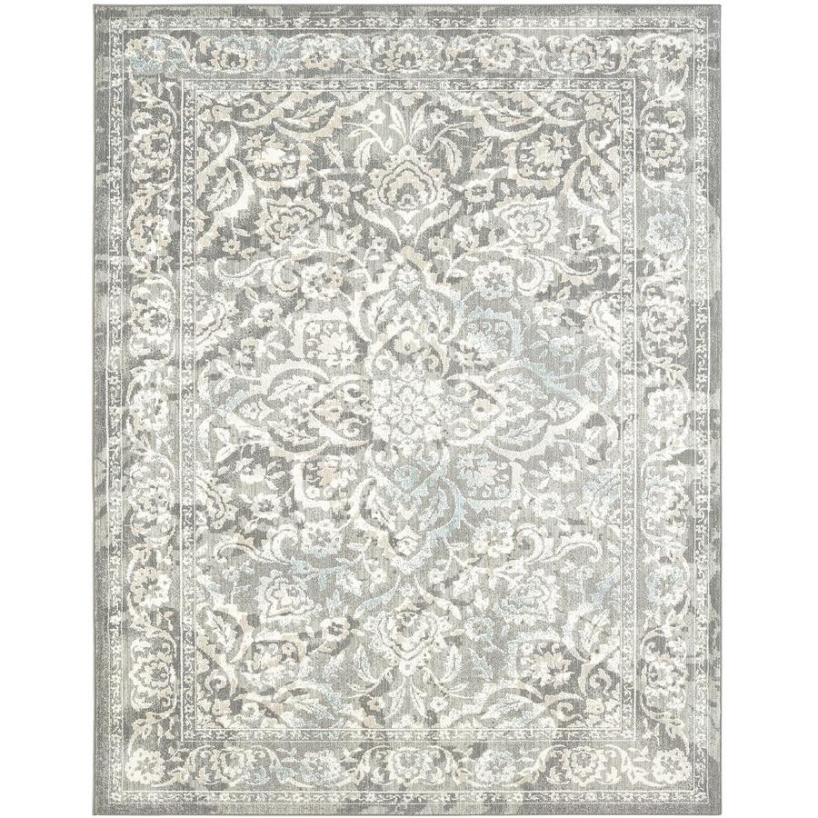 Karastan Serenade Ventura Gray Rectangular Indoor Machine-Made Nature Area Rug (Common: 9 x 13; Actual: 9.5-ft W x 12.916-ft L)