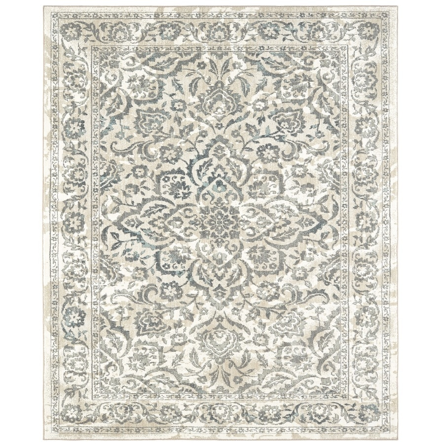 Karastan Serenade Ventura Cream Rectangular Indoor Machine-Made Nature Area Rug (Common: 9 x 13; Actual: 9.5-ft W x 12.916-ft L)