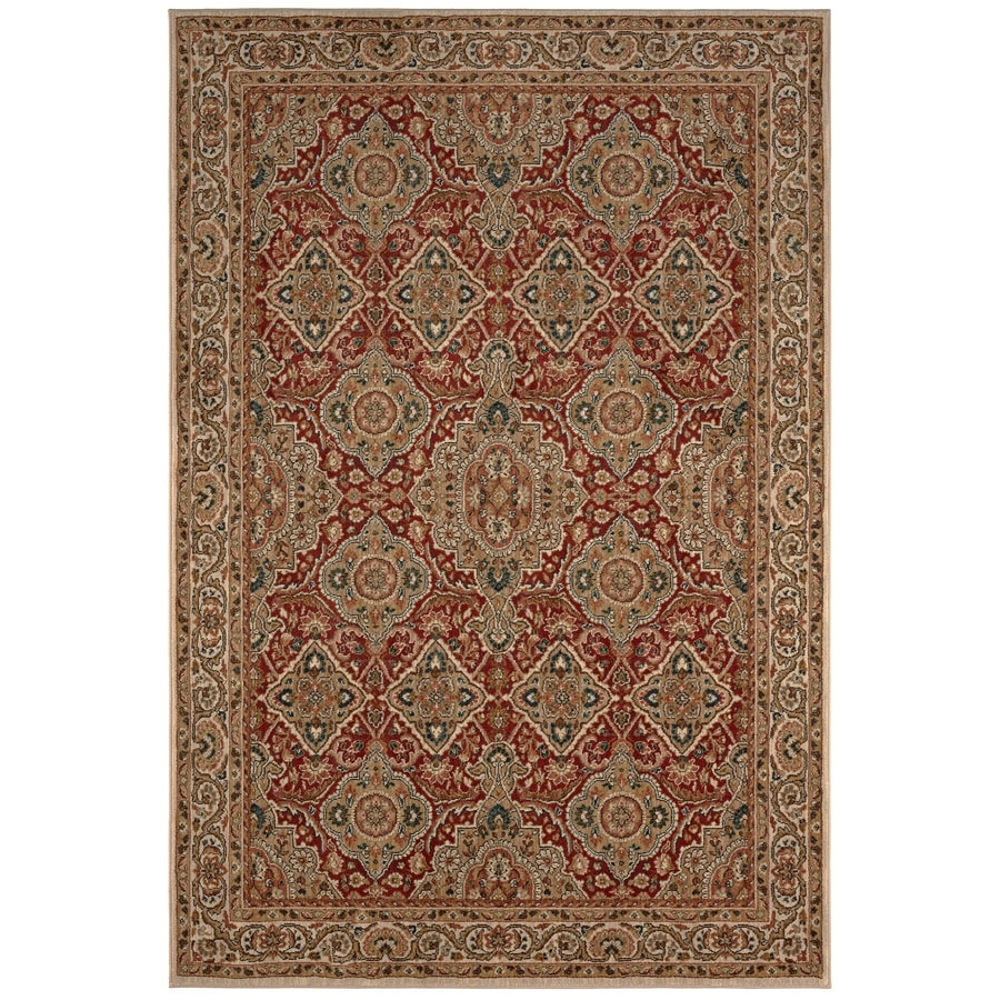 Karastan Wanderlust CREAM Rectangular Indoor Machine-Made Oriental Area Rug (Common: 8 x 11; Actual: 8-ft W x 11-ft L)