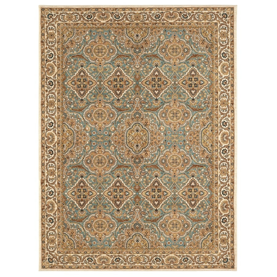 Karastan Wanderlust AQUA Rectangular Indoor Machine-Made Oriental Area Rug (Common: 8 x 11; Actual: 8-ft W x 11-ft L)