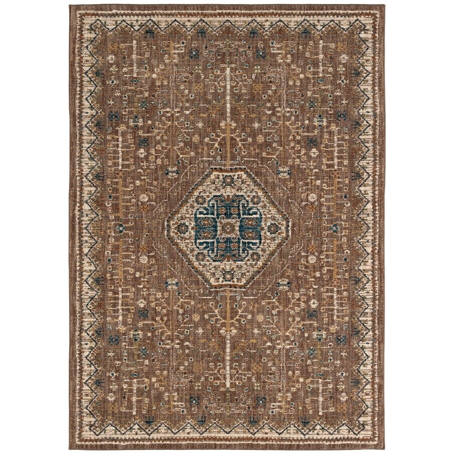 Karastan Wanderlust TAUPE Rectangular Indoor Machine-Made Oriental Area Rug (Common: 8 x 11; Actual: 8-ft W x 11-ft L)