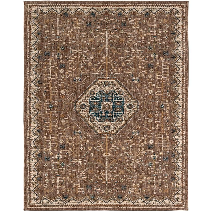 Karastan Wanderlust Taupe Rectangular Indoor Machine-Made Oriental Area Rug (Common: 9 x 13; Actual: 9.5-ft W x 12.916-ft L)