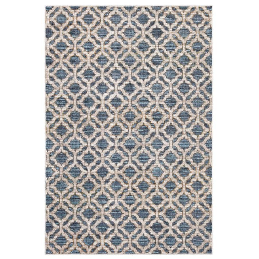 Allen + Roth Mohawk Home Cream Indoor Moroccan Area Rug
