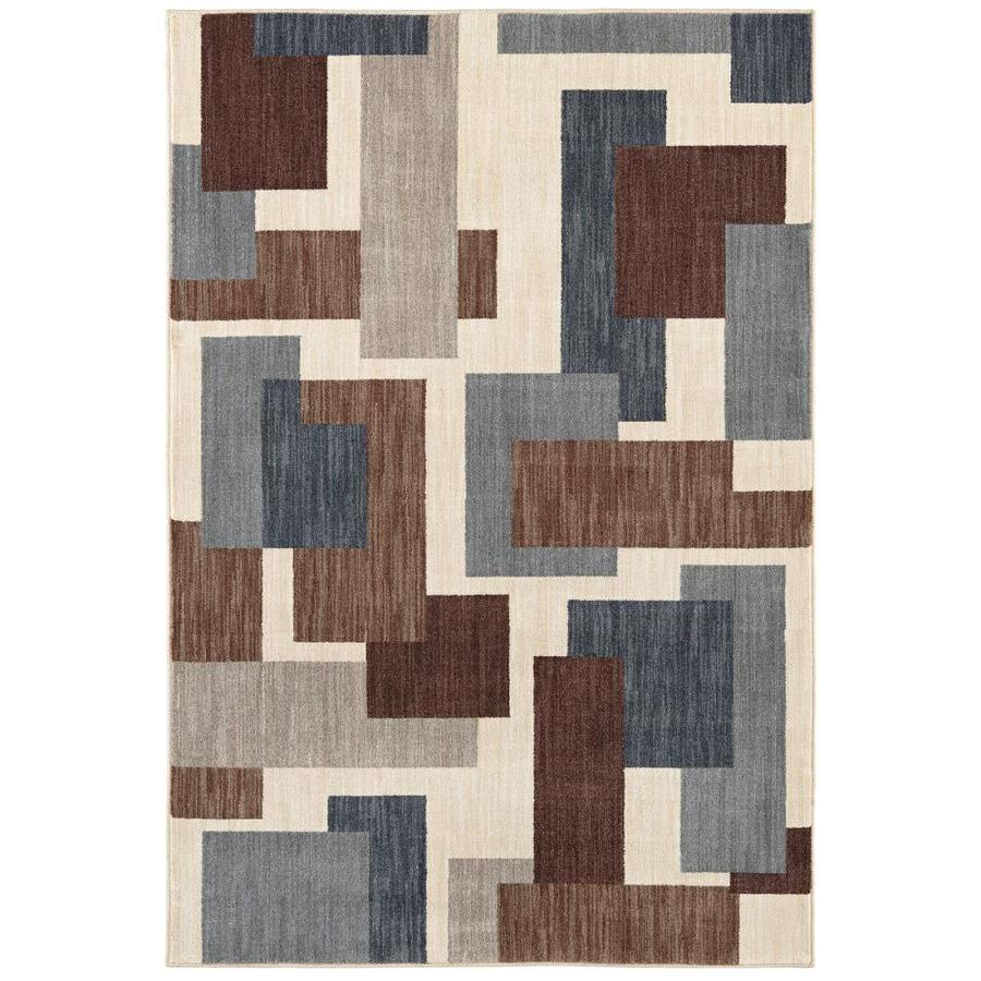 Mohawk Home Barrage Beige Novelty Area Rug (Common: 5 x 8; Actual: 5.25-ft W x 7.833-ft L)