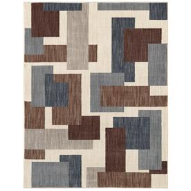 Amazing Mohawk Home Barrage Beige Rectangular Indoor Machine Made Novelty Area Rug  (Common: 8