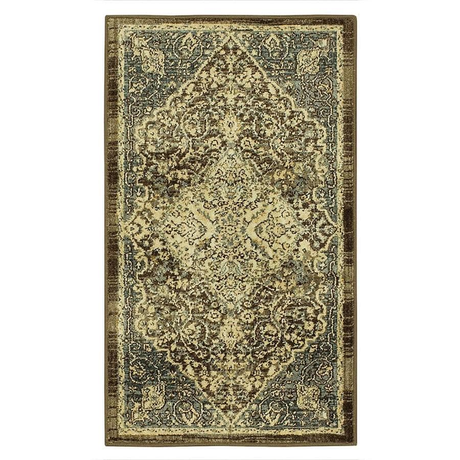 allen + roth Astigos Brown Rectangular Indoor Machine-Made Oriental Throw Rug (Common: 2 x 3; Actual: 2.0833-ft W x 3.66-ft L x 0.5-ft dia)