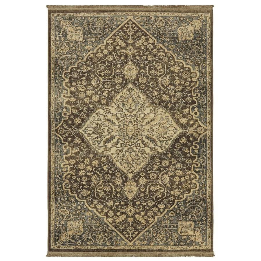 allen + roth Brown Indoor Inspirational Area Rug (Common: 5 x 8; Actual: 5.25-ft W x 7.8333-ft L x 0.5-ft dia)