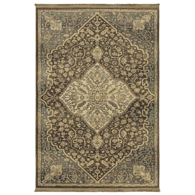 Madigan Brown Indoor Oriental Area Rug Common 8 X 10 Actual Ft W L