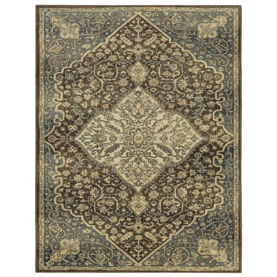 mohawk home madigan brown indoor oriental area rug common 10 x 13