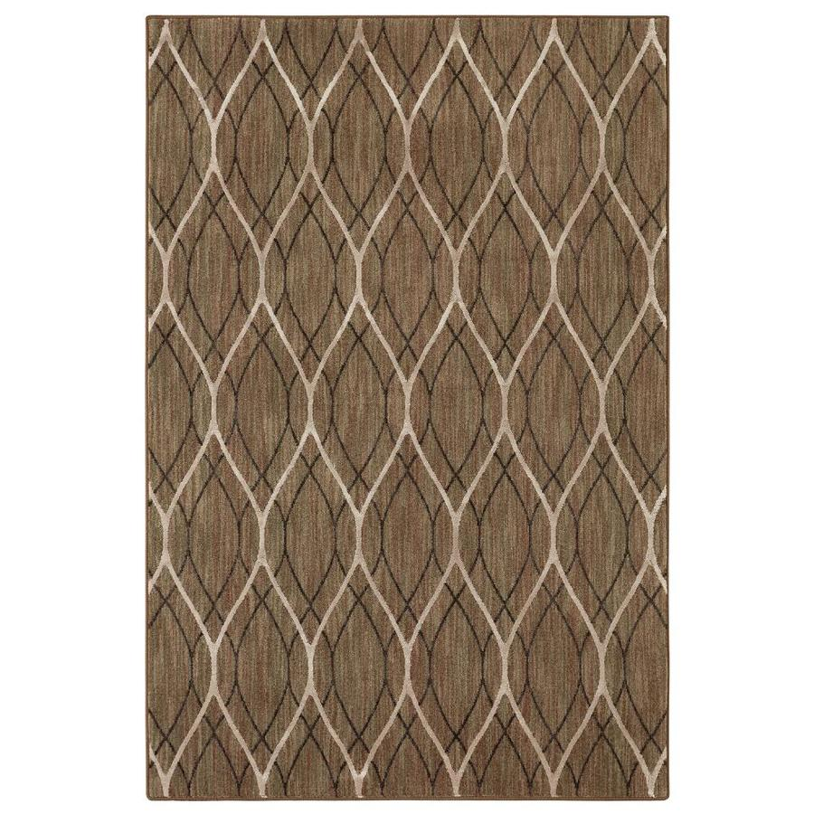 allen + roth Taupe Nature Area Rug (Common: 5 x 8; Actual: 5.25-ft W x 7.83-ft L)