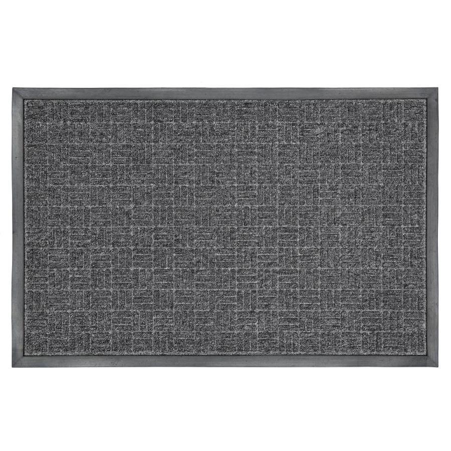 Mohawk Home Black Rectangular Door Mat (Common: 4-ft x 6-ft; Actual: 72-in x 48-in)