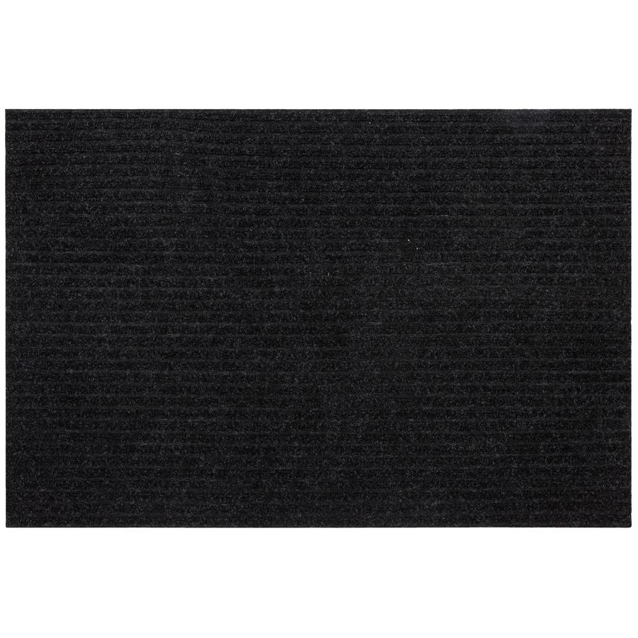 Mohawk Home Black Rectangular Door Mat (Common: 2-ft x 3-ft; Actual: 24-in x 36-in)