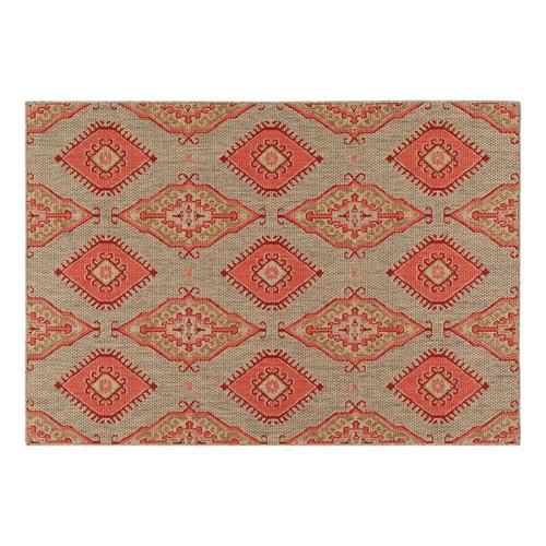 Allen Roth Outdoor Red Indoor Outdoor Area Rug Common 5 X 8 Actual 8 Ft W X 5 Ft L At Lowes Com
