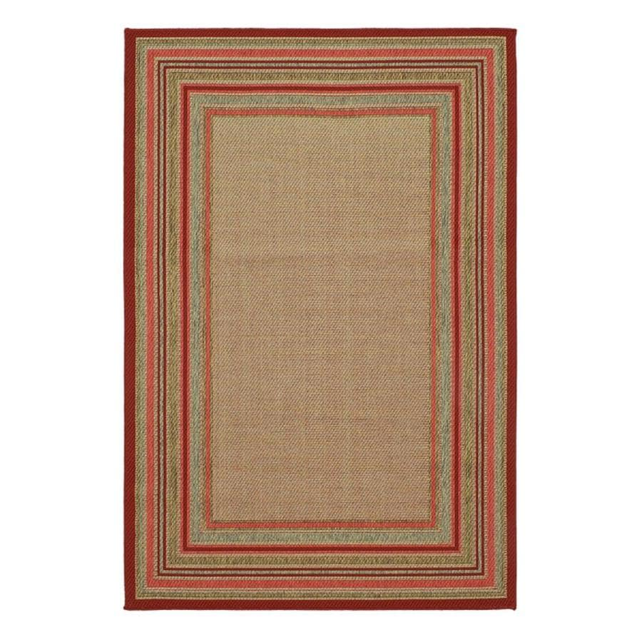 8x10 Indoor Outdoor Area Rugs: Shop Allen + Roth Outdoor Red Rectangular Machine-made