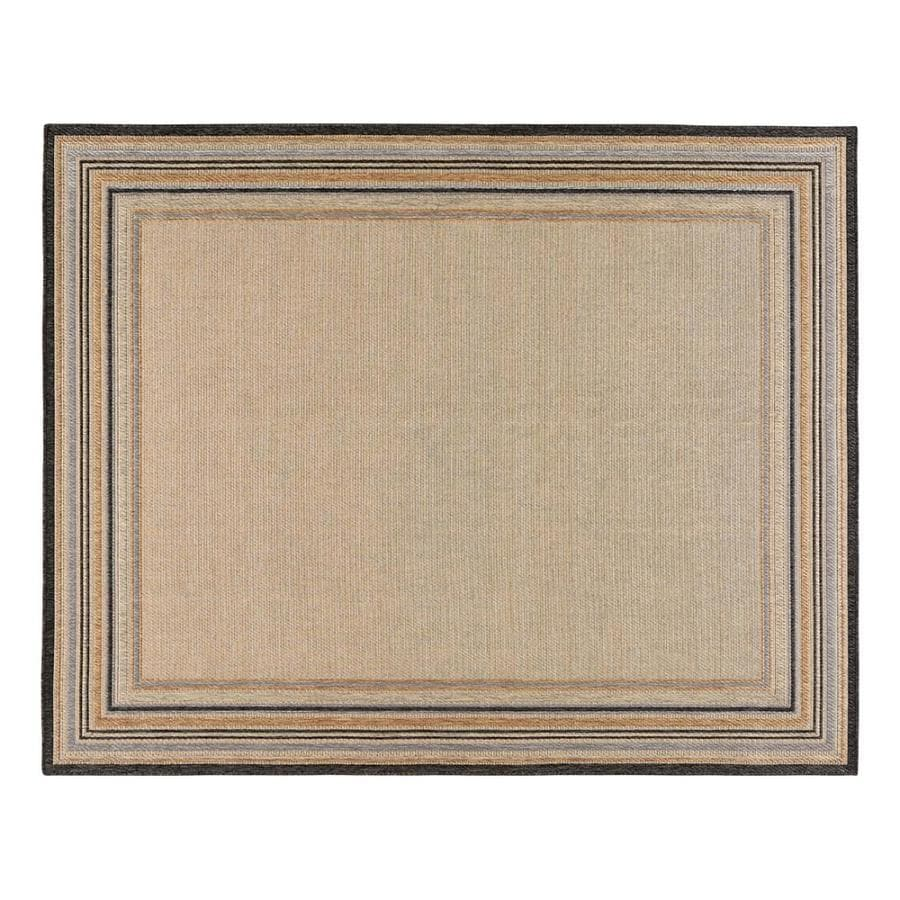 Allen Roth Outdoor Natural Rectangular Machine Made Area Rug Common 8 X