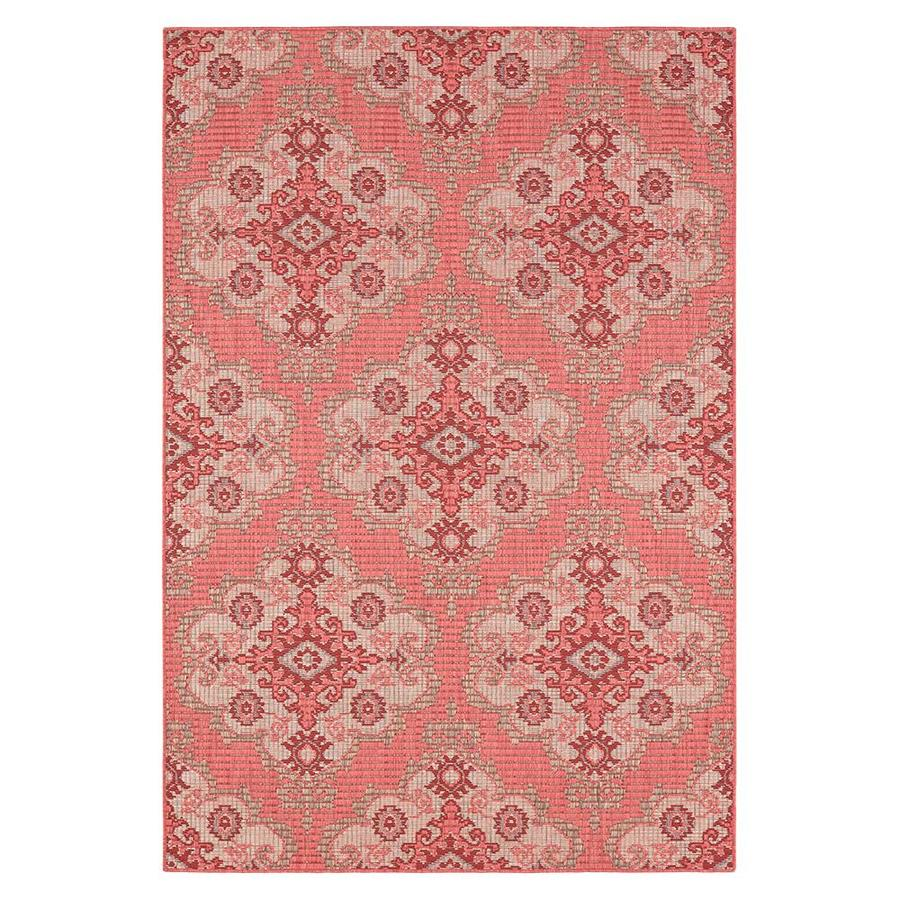 allen + roth 2017 Outdoor Red Indoor/Outdoor Moroccan Area Rug (Common: 10 X 13; Actual: 10-ft W 13-ft L x 1-ft dia)