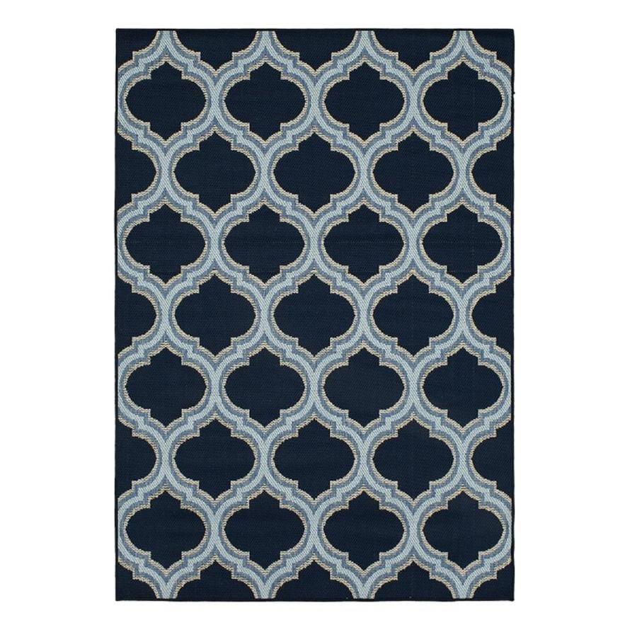 Shop Allen Roth 10 Ft X 13 Ft Blue Morocco Tile At Lowes Com