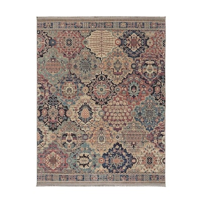 Steeplegate Multi Indoor Vintage Area Rug Common 5 X 8 Actual 5 25 Ft W X 7 83 Ft L X 0 5 Ft Dia