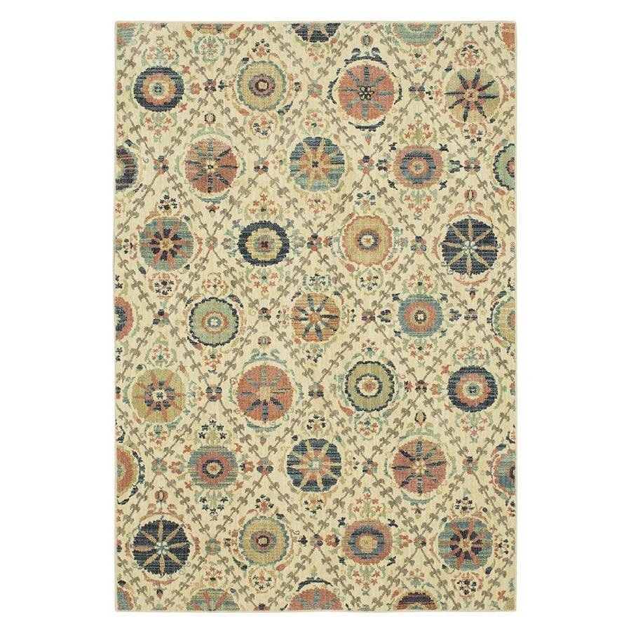 Mohawk Home Stonehaven Beige Rectangular Indoor Machine Made Area Rug Common 5 X 8 Actual 25 Ft W 7 83 L 0 Dia