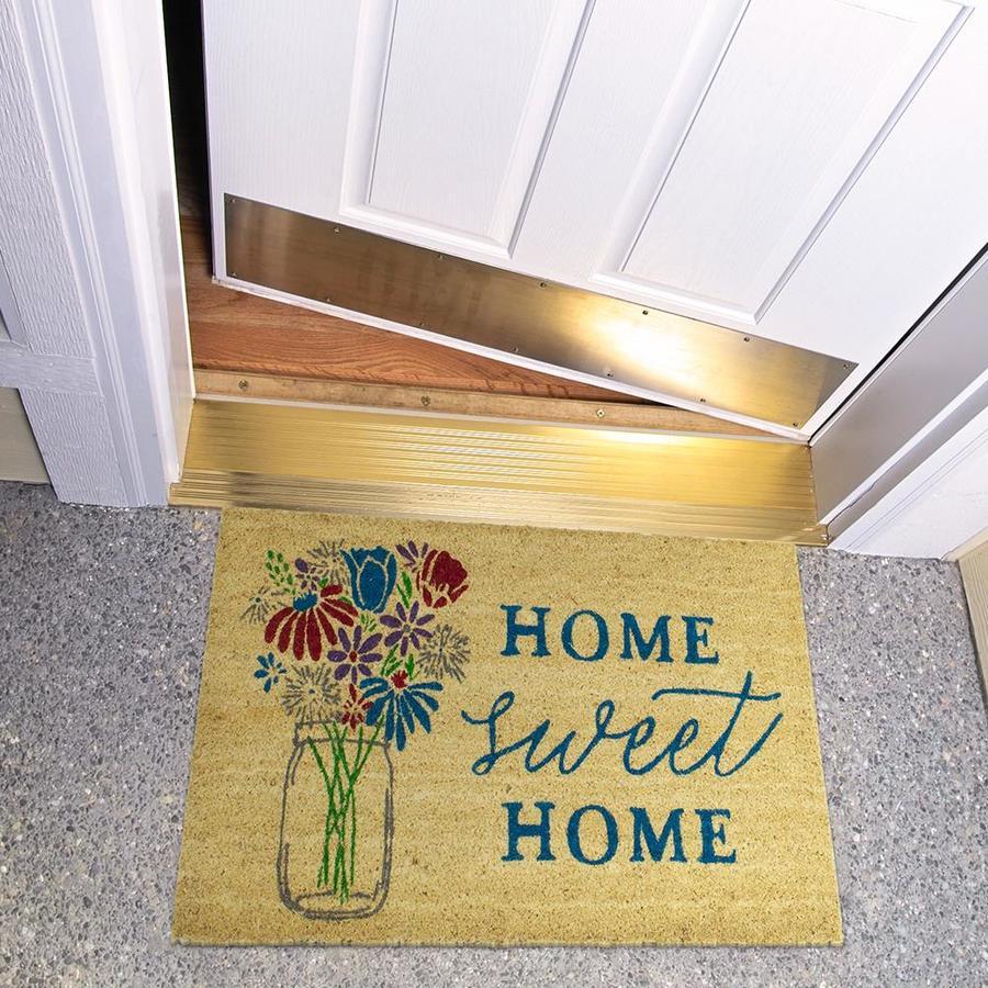 Mohawk Home Brown Rectangular Door Mat Common 1 1 2 Ft X