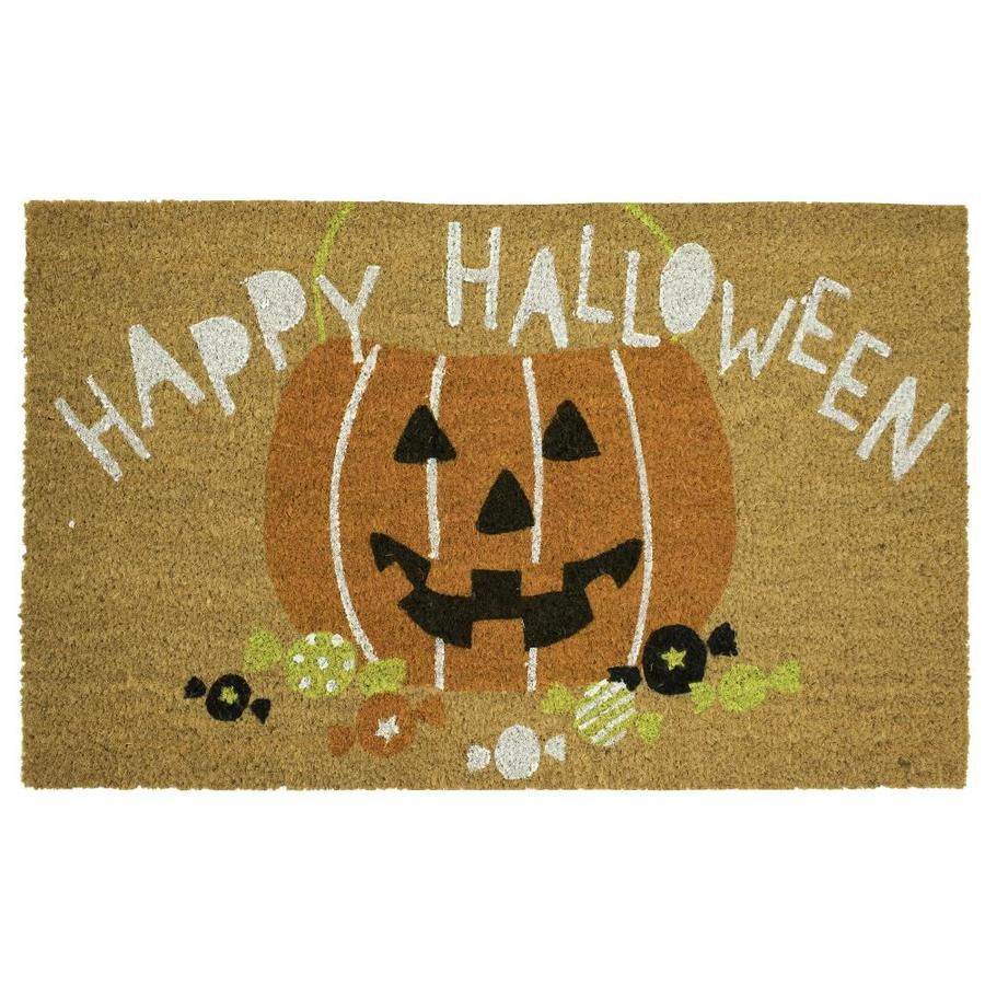 shop mohawk home halloween jack-o-lantern mat at lowes