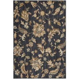 Mohawk Home Brawley Blue Rectangular Indoor Machine-Made Area Rug (Common: 5 x 8; Actual: 5.3-ft W x 7.8-ft L)