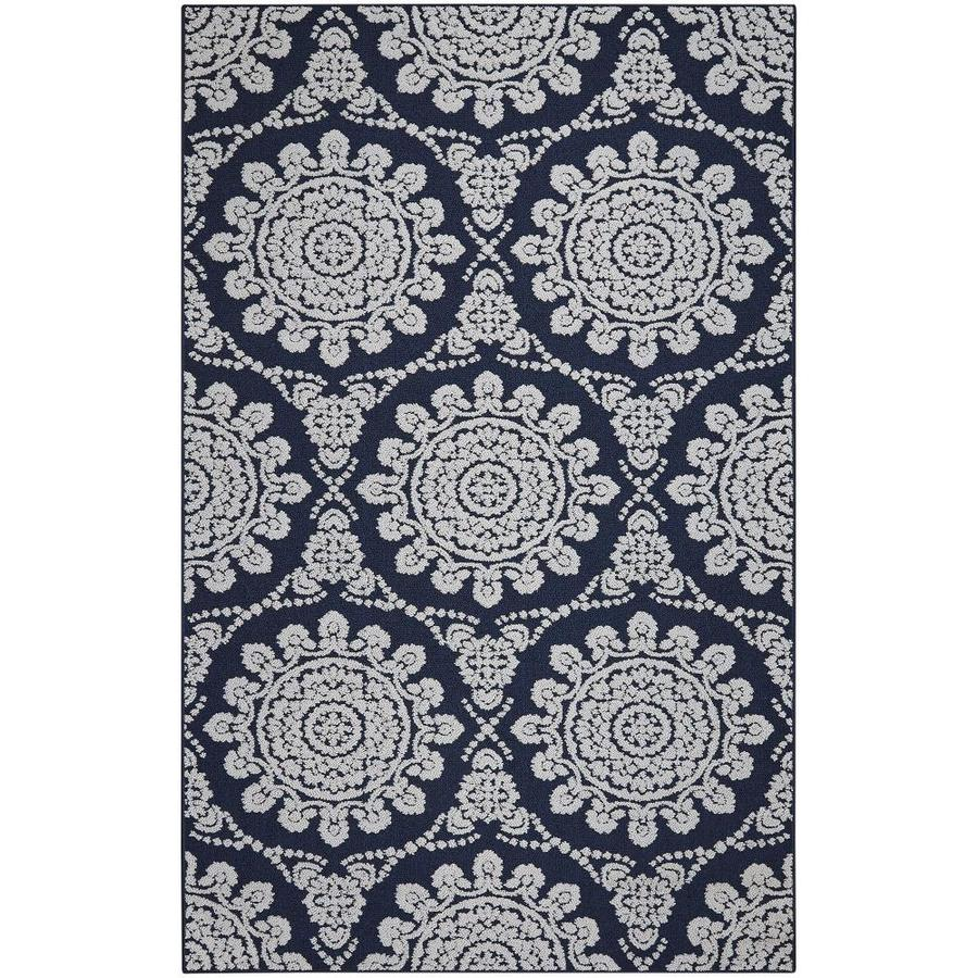 Mohawk Home Milou Navy/Gray Indoor Moroccan Area Rug