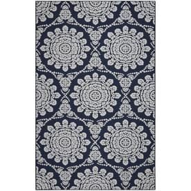 Mohawk Home Milou Navy Gray Indoor Moroccan Area Rug Common 5 X 8