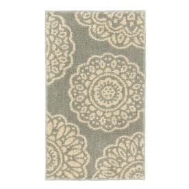 Mohawk Home Millwood Grey/Starch Rectangular Indoor Machine-Made Throw Rug (Common: 2 x 4; Actual: 2-ft W x 3.3-ft L)