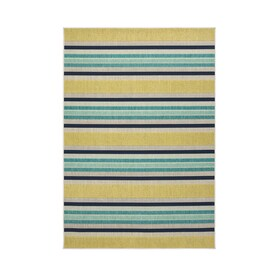allen + roth Outdoor Collection Teal Indoor/Outdoor Bohemian/Eclectic Area Rug (Common: 5 x 8; Actual: 7.5-ft W x 5.3-ft L)