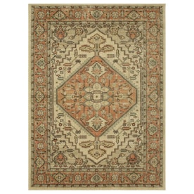 Mohawk Home Lowrance Beige Indoor Farmhouse/Cottage Area Rug (Common: 8 x 10; Actual: 8-ft W x 10-ft L)