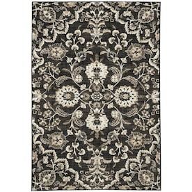 Mohawk Home Mecklenburg Onyx Indoor Area Rug (Common: 5 x 8; Actual: 5.25-ft W x 7.83-ft L)