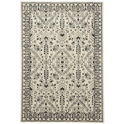 Estelle Oyster Rectangular Indoor Machine Made Farmhouse Cottage Area Rug Common 5 X 8 Actual 25 Ft W 7 83 L