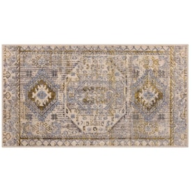 allen + roth Harper 2 x 4 Antique White Indoor Distressed/Overdyed Bohemian/Eclectic Throw Rug